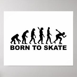 Born to skate evolution speed skating poster