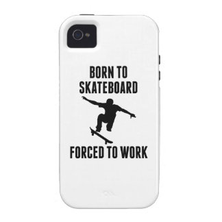 Born To Skateboard Forced To Work Case-Mate iPhone 4 Case