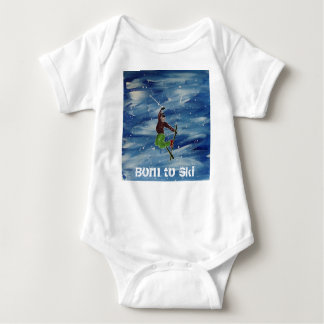 Born to ski baby vest baby bodysuit