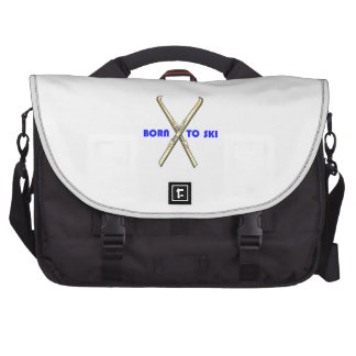 BORN TO SKI LAPTOP MESSENGER BAG