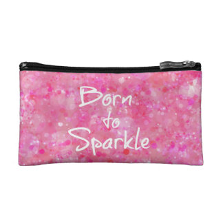Born to Sparkle Quote Cosmetic Bag