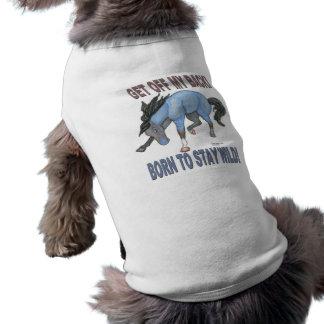 Born to Stay Wild Bucking Horse Doggie Tee