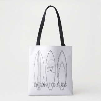 Born To Surf Adult Coloring Full Tote Tote Bag