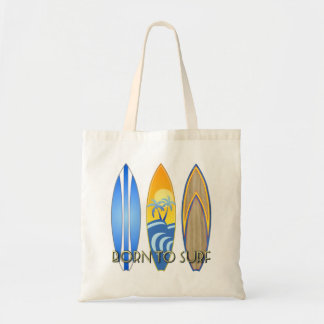 Born To Surf Canvas Bags