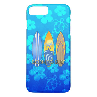 Born To Surf Blue Honu iPhone 7 Plus Case