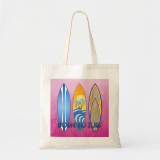 Born To Surf Budget Tote Bag