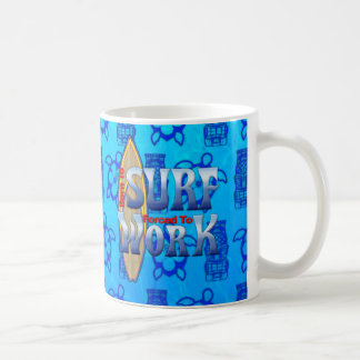 Born To Surf Forced To Work Coffee Mugs