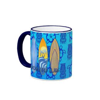 Born To Surf Ringer Mug