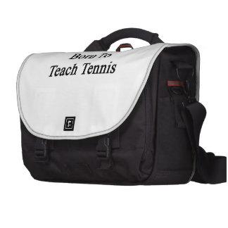 Born To Teach Tennis Laptop Commuter Bag