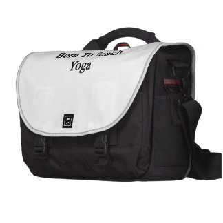 Born To Teach Yoga Laptop Bags