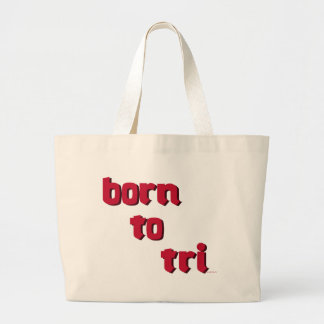"""born to tri"" red logo products bag"