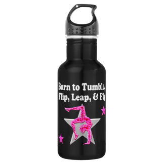 BORN TO TUMBLE, LEAP AND FLY GYMNAST 532 ML WATER BOTTLE