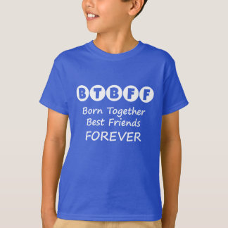 Born Together BFF Boys Tee for Twins, Triplets