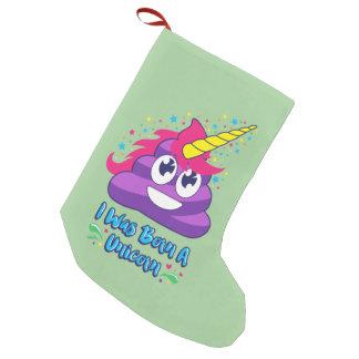 Born Unicorn Poop Emoji Christmas Stocking