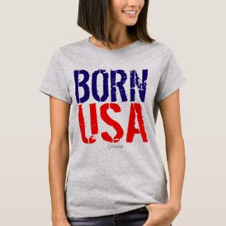 Born Usa America by VIMAGO T-Shirt