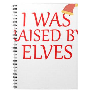 born with elves, gift elf, christmas, fairy shirt notebook