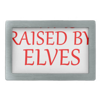 born with elves, gift elf, christmas, fairy shirt rectangular belt buckle