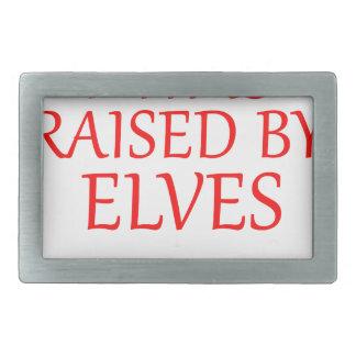 born with elves, gift elf, christmas, fairy shirt rectangular belt buckles