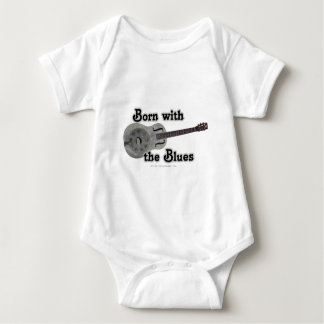 Born With The Blues Baby Bodysuit