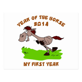 Born Year of The Horse 2014 Postcard
