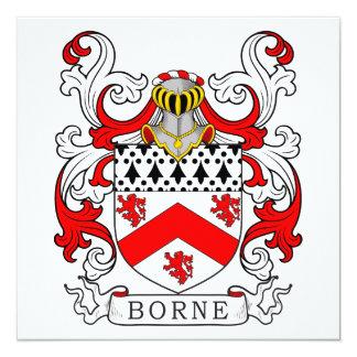 Borne Coat of Arms III 13 Cm X 13 Cm Square Invitation Card