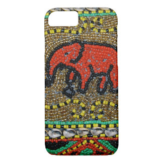 Borneo beaded Elephant Art iPhone 7 Case