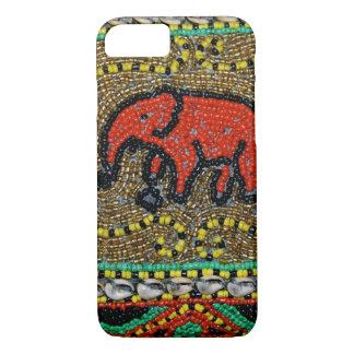 Borneo beaded Elephant Art iPhone 8/7 Case