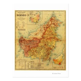 BorneoPanoramic MapBorneo Postcard