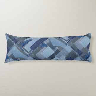 Boro Boro Blue Jean Patchwork Denim Shibori Body Cushion