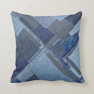 Boro Boro Blue Jean Patchwork Denim Shibori Cushion