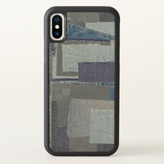Boro Boro Blue Jean Patchwork Denim Shibori iPhone X Case