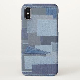 Boro Boro Blue Jean Patchwork Denim Shibori iPhone X Case