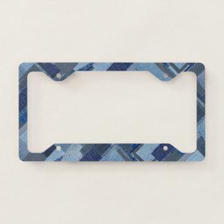 Boro Boro Blue Jean Patchwork Denim Shibori Licence Plate Frame