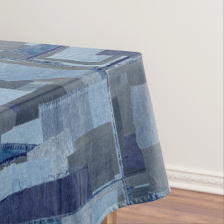 Boro Boro Blue Jean Patchwork Denim Shibori Tablecloth