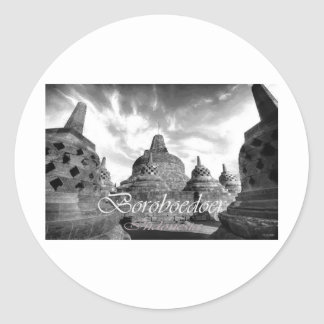 Boroboedoer Tample series of Round Stickers