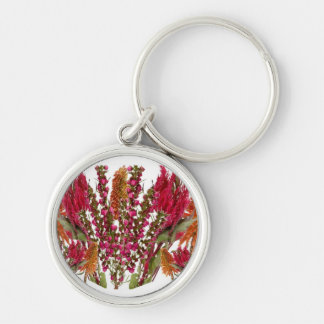 Boronia Lipstick Flower Show Silver-Colored Round Key Ring