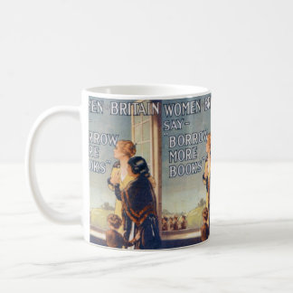Borrow more books mug