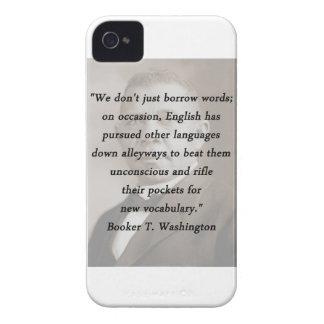 Borrow Words - Booket T Washington iPhone 4 Case