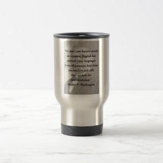 Borrow Words - Booket T Washington Travel Mug