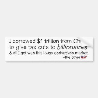 Borrowed a trillion, got a derivatives market car bumper sticker