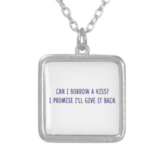 Borrowed Kiss shirts, accessories, gifts Silver Plated Necklace