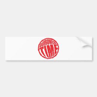 Borrowed Time circle stamp hanko Bumper Sticker