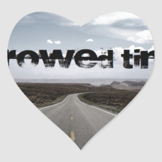 Borrowed Time Swag Heart Sticker