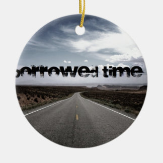 Borrowed Time Swag Round Ceramic Decoration