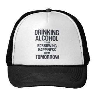 Borrowing Happiness Trucker Hats