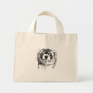 borsa con furetto mini tote bag