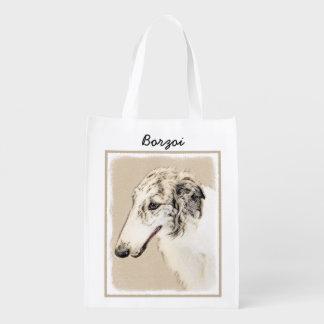 Borzoi 2 reusable grocery bag