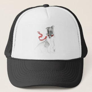 Borzoi Bow Trucker Hat