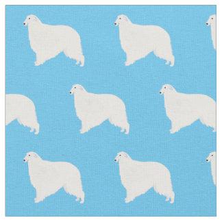 Borzoi Dog Basic Breed Silhouette Fabric