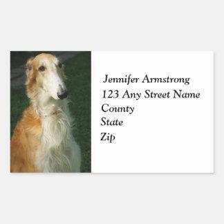 Borzoi dog custom return address stickers